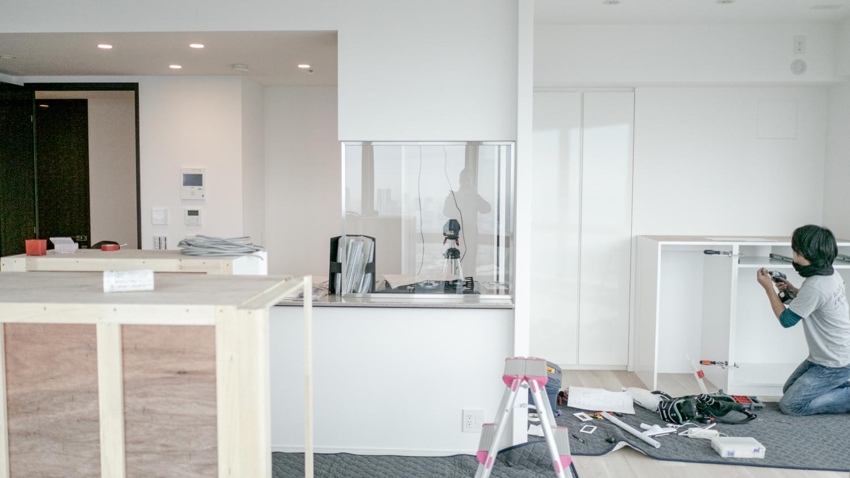 ホワイトの造作オーダー家具
