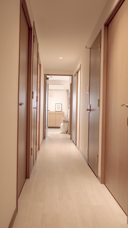 マンション廊下の照明リフォーム