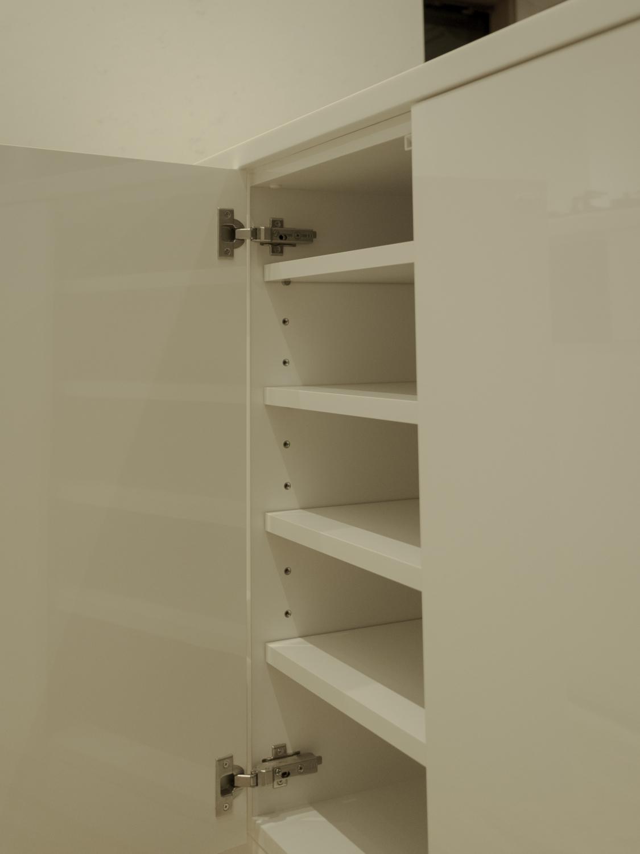 オーダーキッチン 白いキッチン キッチン収納