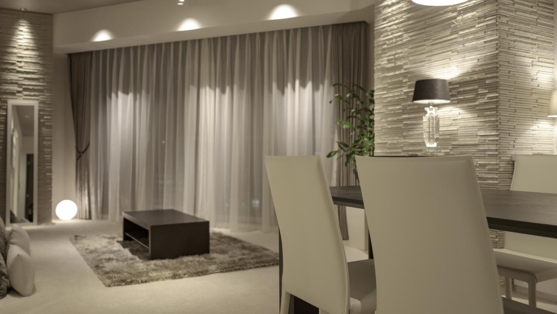マンションダウンライト間接照明神戸 ホテルのような照明リフォーム