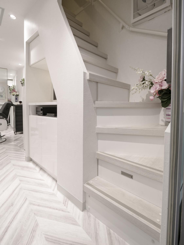 理容室デザインリフォーム 神戸 モノトーンインテリア