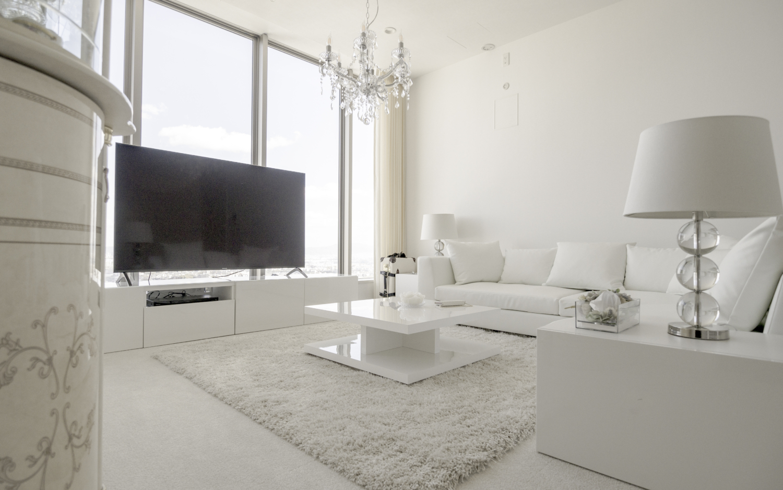 ホワイトインテリア 白家具 シンプルモダンインテリア 神戸