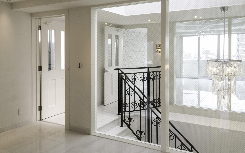 白いお家 白い大理石のお家