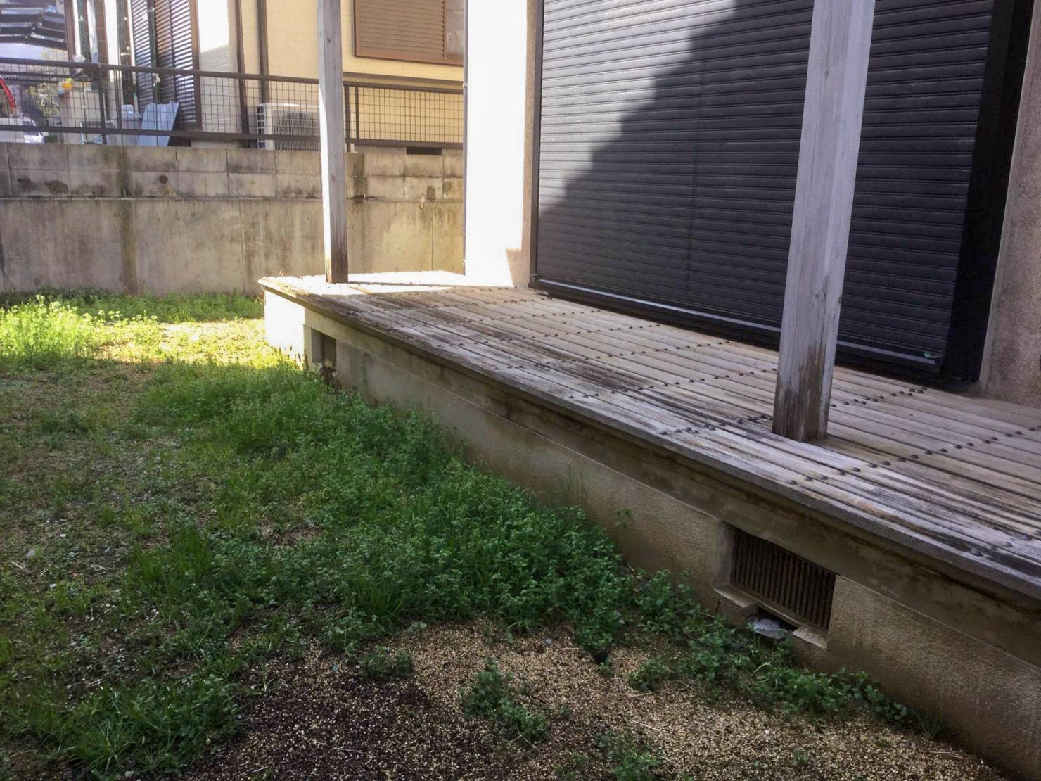 縁側リフォーム 柱の腐食の補修 大阪 神戸