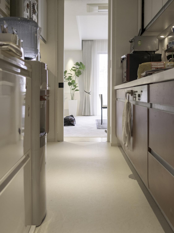 キッチン床の上張りリフォーム神戸