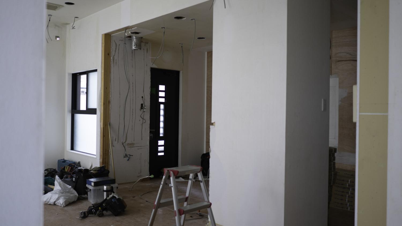 キッチンデザインリフォーム解体中