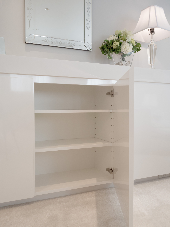 オーダーリビング収納 海外デザインサイドボード ホワイト 神戸大阪