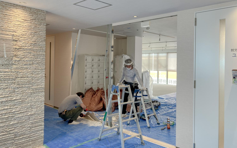 オフィスの壁解体 オフィスリノベーション オフィスリニューアル